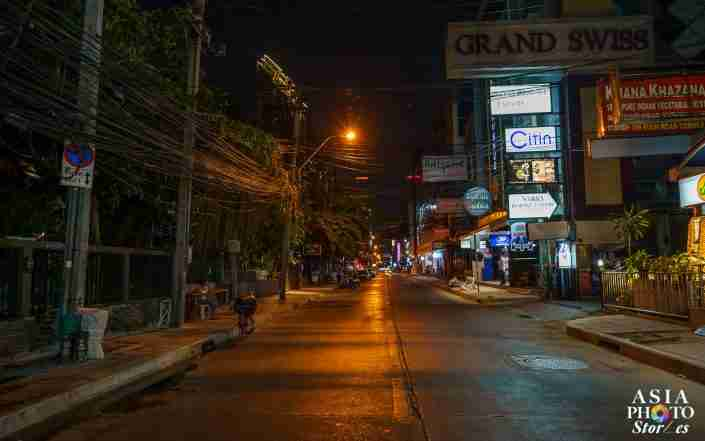 Sukhumvit Soi 11 in Bangkok is normally bustling with tourists and locals partying at several huge nightclubs, various pubs and restaurants and hotels. But amid the Covid-19 pandemic, it's all but deserted before 9 p.m.
