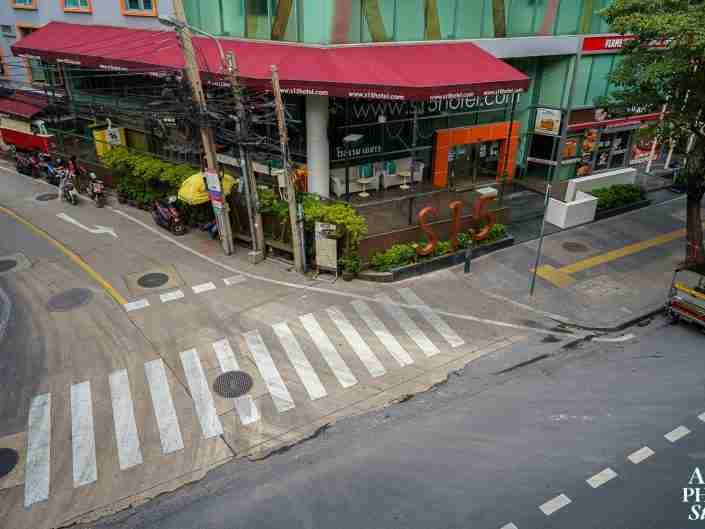 Bangkok, Thailand (April 14, 2020): Bangkok's streets and trains are eerily quiet on Songkran. The Thai New Year is usually bustling with people.